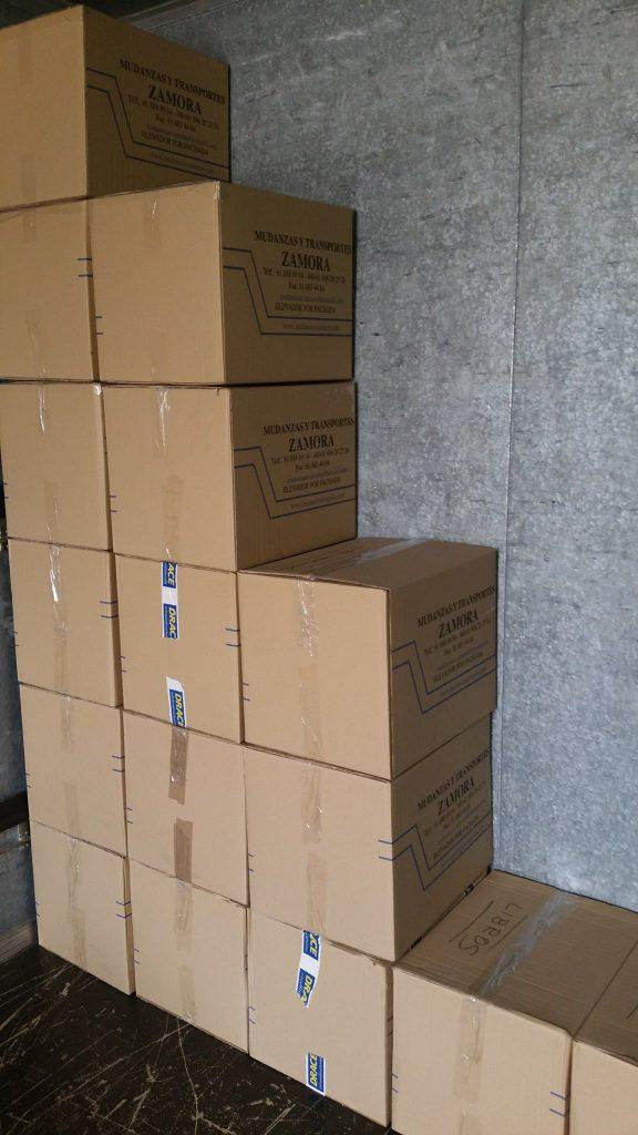 cajas embaladas trastero